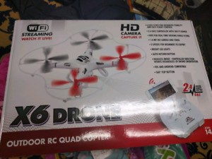 Outdoor RC quad copter drone