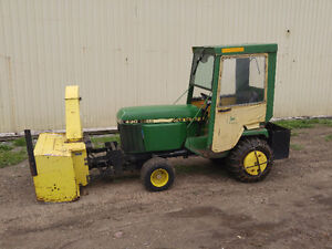 JOHN DEERE 430 DIESEL TRACTOR WITH BLOWER AND CAB