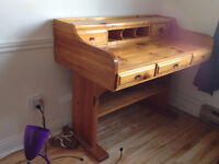 SOLID WOOD DESK - NEGOTIABLE