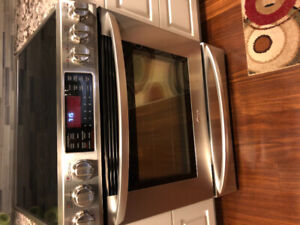 LG convection oven and stove top