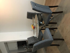 FOR SALE: 4 DINING CHAIRS, NIGHT STAND, TABLE LAMP