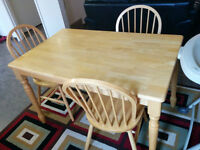 Wooden dining table and chairs - Must Go