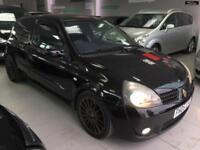 2005 RENAULT CLIO RENAULTSPORT 182 16V Black Manual Petrol