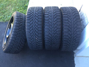 4 winter tires with rims West Island Greater Montréal image 3