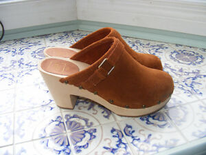 Suede Clog Shoe New