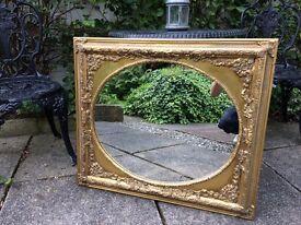 Vintage oval mirror gold mirror French mirror