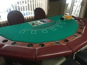 Poker / Blackjack Table & Chairs
