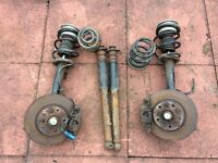 BMW E46 SUSPENSION AND FRONT BRAKES