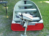 4hp johnson and 12ftboat 9.9hpand 12ft boat