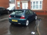 mg zr 1.4 petrol 3dr facelift model in green 98k mileage 1 owner with tax & mot look