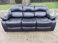Leather suite sofa NEW boxed brown or black FREE delivery