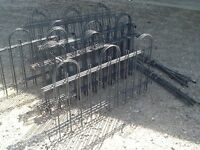 100 feet of steel garden fencing