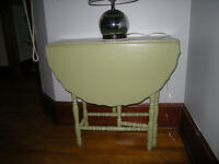 "Antique painted ""Mint Green"" table"
