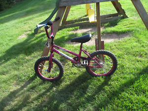 For Sale girls purple bicycle with horn