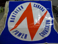 """Northern Canada Power Commission - NCPC stickers 30""""x30"""""""