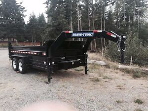 Sure-trac trailer. 14' by 7' inside. 14000k dump trailer