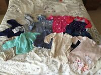 Baby girl 12 x dresses/hoodies 6-9 months