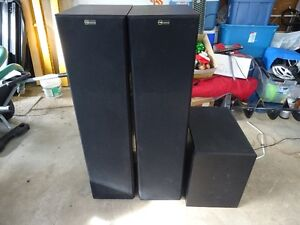 Nuance Tower Speakers and powered subwoofer