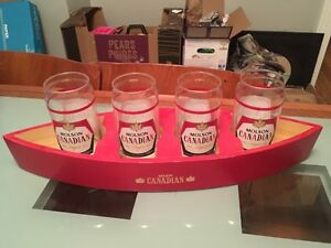 Vintage-style Molson Canadian Beer Glasses