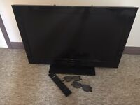 "Bush 32"" 3D tv, full HD with remote and 2 pairs of glasses."