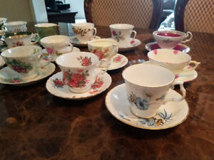 Vintage tea cup sets for rent