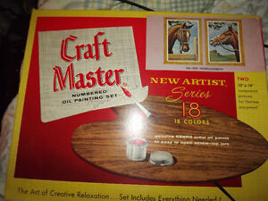 Vintage Craft Master Numbered Oil Painting Set-Thoroughbreds