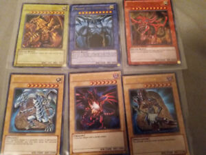 6 rare limited edition yu gi oh cards with 100 extra cards