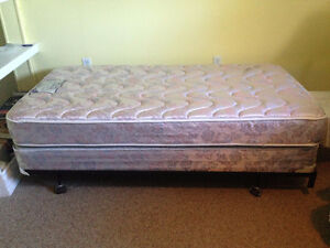 Twin Mattress, Box Spring and Frame - Like New!
