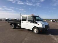 Ford Transit T350 D/CAB TIPPER 100PS EURO 5 DIESEL MANUAL WHITE (2014)