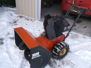 10 horsepower snowthrower in good working condition