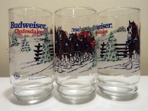 BUDWEISER CLYDESDALE Winter Glasses (12)