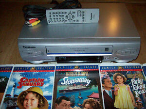 VCR with Remote and Children's Movies