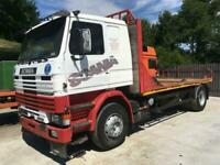 Left hand drive Scania 112 flat bed lorry