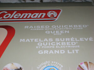 Coleman Air Bed with built in AC Pump, Queen Windsor Region Ontario image 2