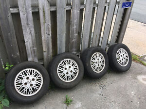 1986 Honda prelude SI rims and tires
