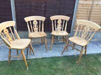 Farmhouse pine chairs