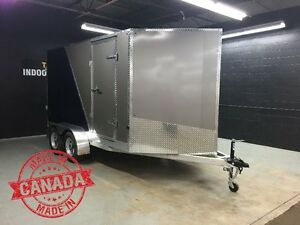 7x12 V-nose All Aluminum Cargo Trailer