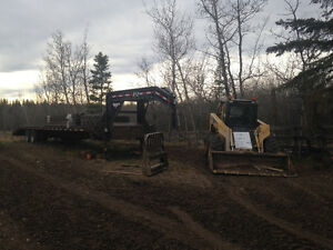 Skid steer, trailer and attachments Strathcona County Edmonton Area image 1
