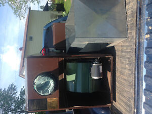 Newmac wood/electric forced air furnace