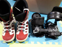 Bindings and snowboard boots