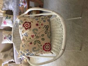 Wicker patio chair, with pillow (or without).