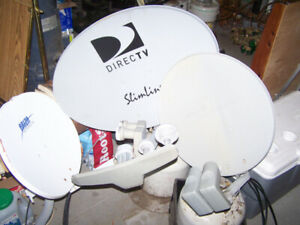Used satellite receivers and dishes Lot