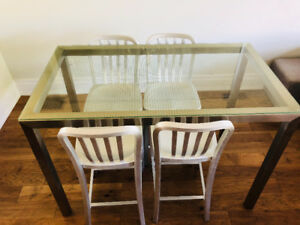 Custom dining/kitchen table & stools