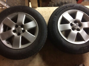 Summer tires on Corolla S rims, great condition!