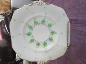 Sampson Smith Bone China Plate - Flowers and Vines