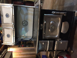 Enterprise Monarch antique wood cook stove for sale.