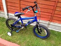 "Boys bike 16"" wheels with stabilisers"