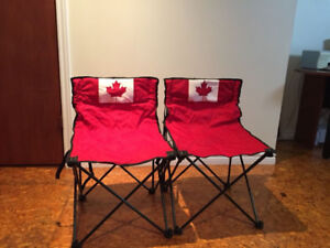 Chaises Camping Rouge Canada EXCELLENTE CONDITION