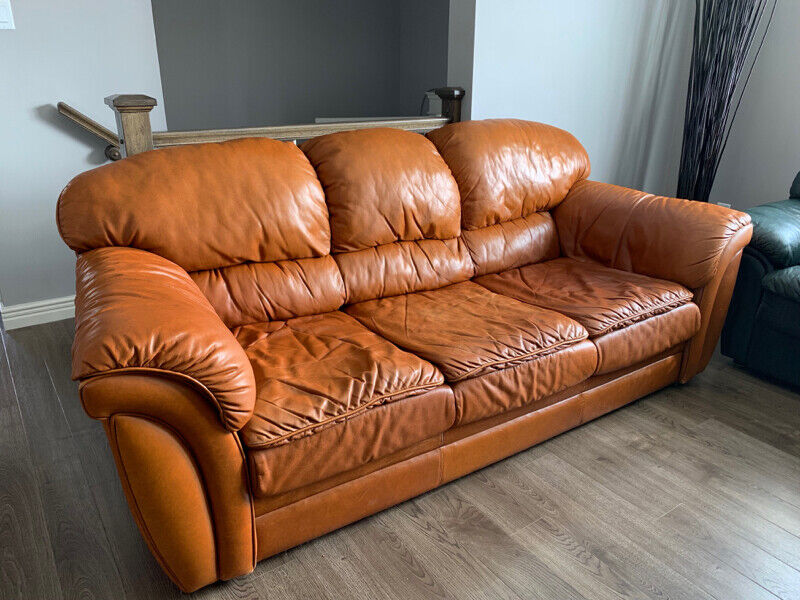 La Z Boy Leather Sofa Set Real Leather Couches Futons St