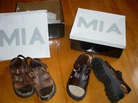 Sandale neuve en cuir pointure 2 (enfant)